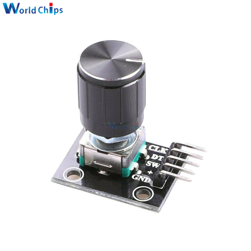 diymore KY-040 360 Degrees Rotary Encoder Module with 15×16.5 mm Potentiometer Rotary Knob Cap for Arduino Brick Sensor Switch