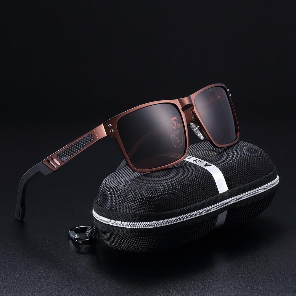 BARCUR tendencia estilos aluminio magnesio vidrio cuadrado hombres gafas de sol polarizadas para hombres Sport Oculos gafas de sol