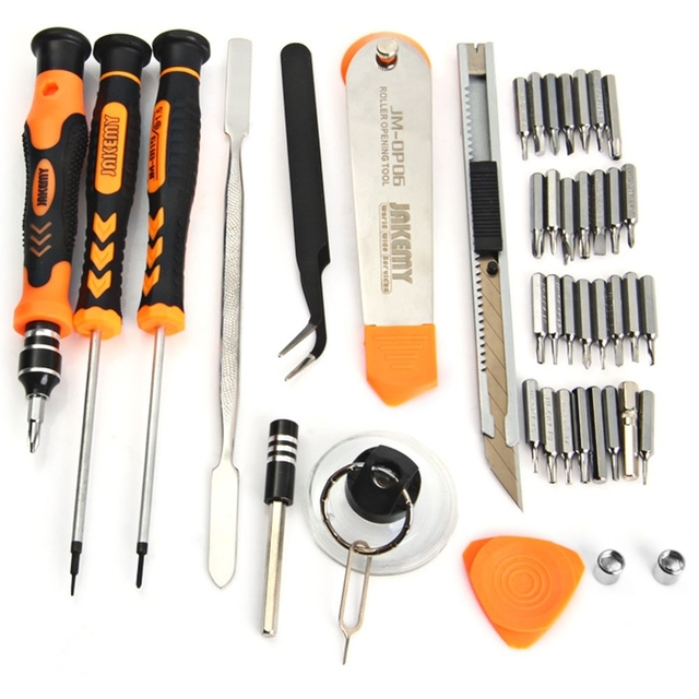JAKEMY 45 in 1 Professional Electronic Precision Screwdriver Set Hand Tool Box Set Opening Tools for iPhone PC Repair Tools Kit 1