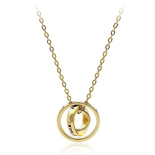 delicate design !!!good luck 3 circle necklace, real gold plating Factory outlets FREE SHIPPING