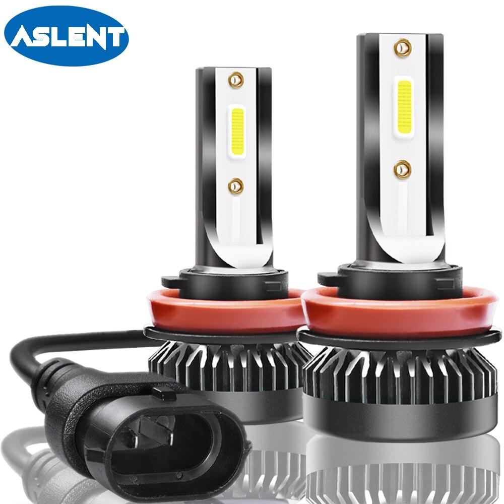 Aslent 2 piezas Mini H7 LED H11 H8 H9 H1 HB4 HB3 9005, 9012 LED bombillas de faros estilo de coche Auto de la luz de niebla de la lámpara 72 W 6500 K 8000lm 12 v 12 v