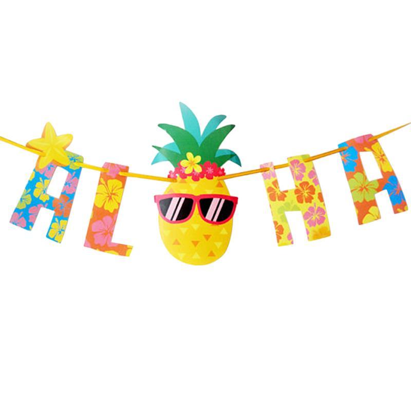 FunPa ананас вечерние баннер Гавайи стильный ALOHA письмо знак вечерние сувениры Цветочные баннер висит баннер Гавайи вечерние Декор