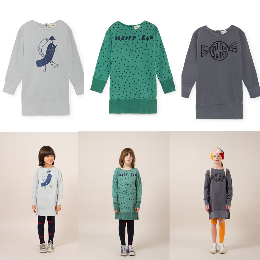 27fda3c90 Bobo Choses sudadera para niños ropa para niños vestido de niña vestido de  lana para niñas Vestidos ropa 2018 otoño invierno nuevo en Vestidos de  Madre y ...