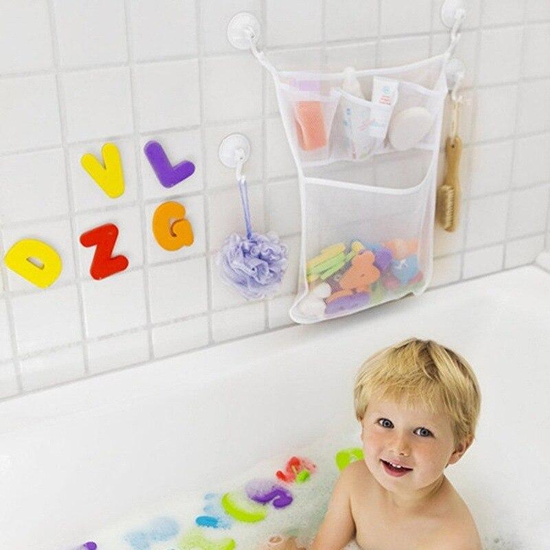 Babywanne Mutter & Kinder Baby Kinder Badewanne Spielzeug Tasse Tasche Mesh Bad Net Ordentlich Lagerung Saug Lagerung Spielzeug Saug Tasche Falten Hängenden Vakuum Kleidung