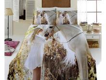 Комплект постельного белья двуспальный-евро VIRGINIA SECRET, Bamboo, лошади, бежевый, 3D