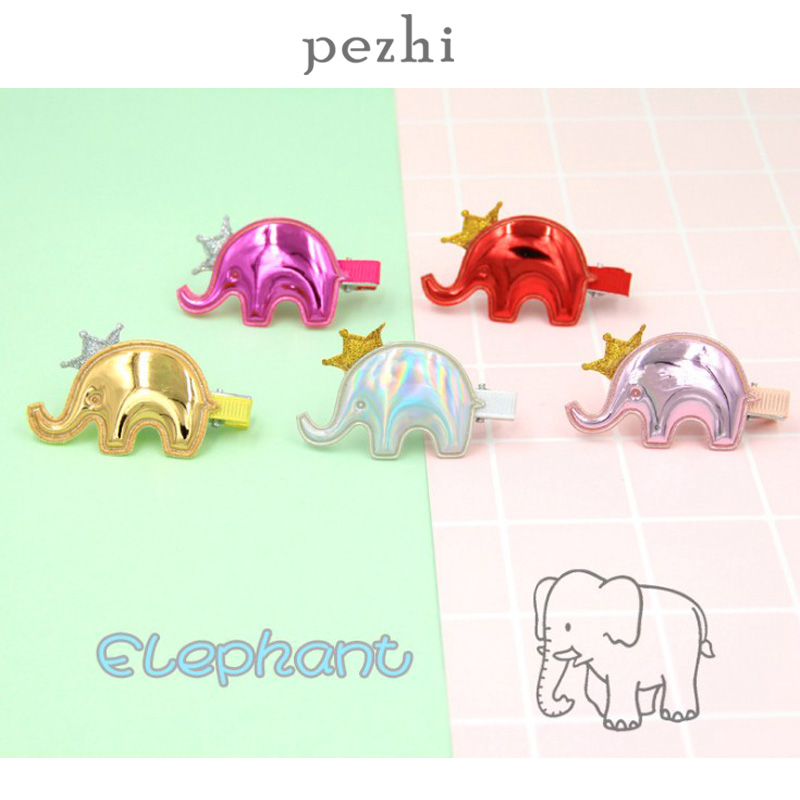 New Pu Hair Accessories Crown Elephant Hairpin Cute Children Cartoon Liu Seaside Clip Girls Baby Creative Mirror Leather Headdre Girl S Hair Accessories Aliexpress Baby elephant crown cartoon vectors (95). aliexpress