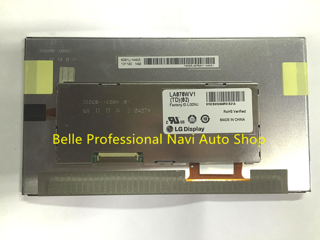 Free shipping original new 7Inch LCD display LA070WV1 TD02 LA070WV1 TD02 for Car DVD GPS navigation Audio