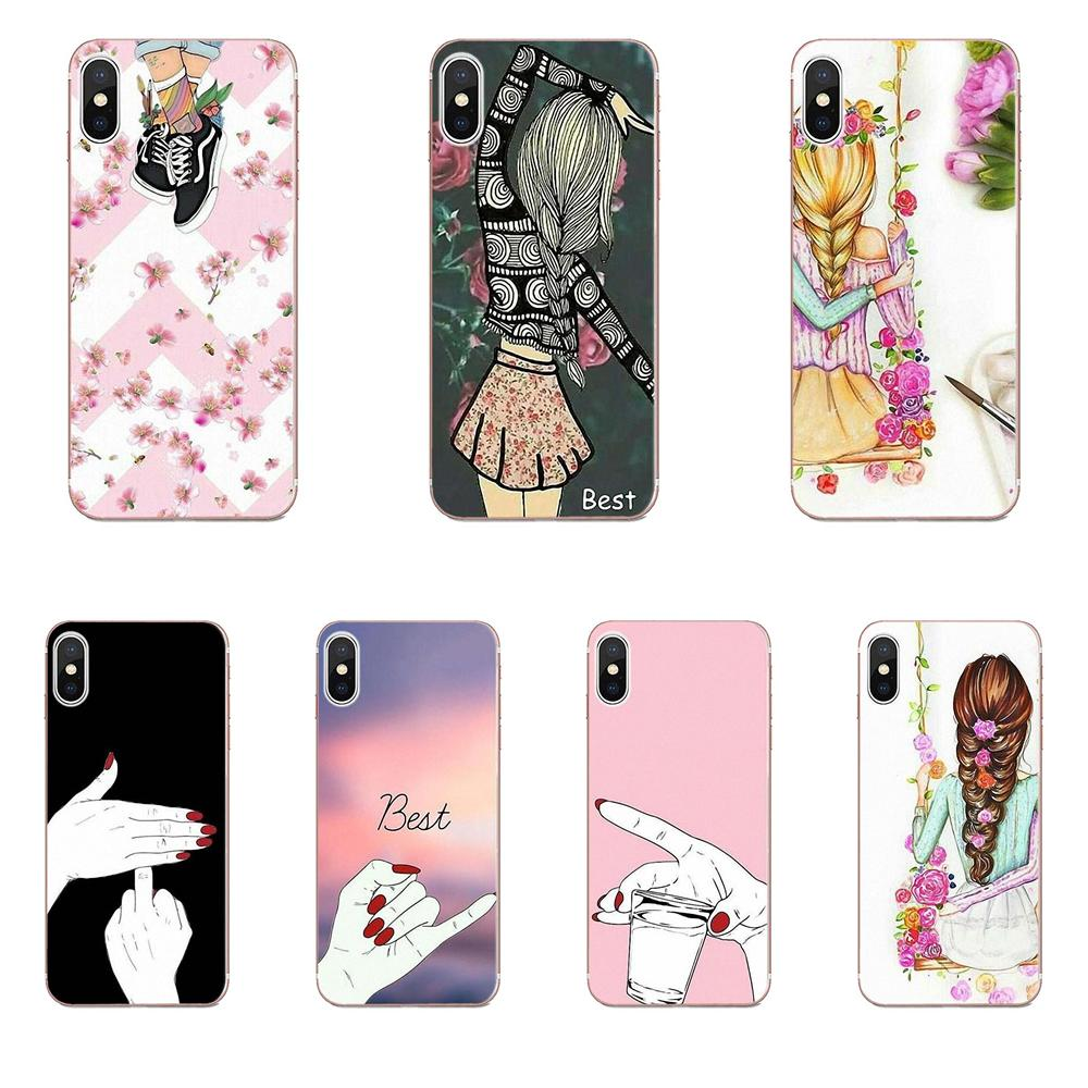 Soft TPU Capa <font><b>Coque</b></font> For Apple <font><b>iPhone</b></font> X XS Max XR 4 4S 5 5C <font><b>5S</b></font> SE 6 6S 7 8 Plus <font><b>Best</b></font> <font><b>Friend</b></font> Forever image