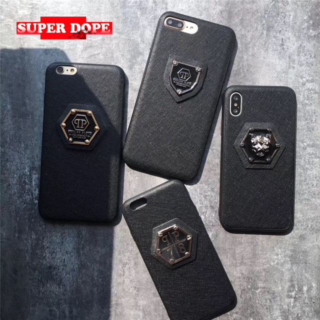 6befcdc47 Superdope PHILIPP PLEIN leather Tiger Lion Italy hard case for iphone 6 6S  plus 7 7plus