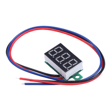 0.36inch LCD Three Wire 5-30V LED Small Red Digital DC Voltmeter Panel Meter Power Supply Best Price(China (Mainland))