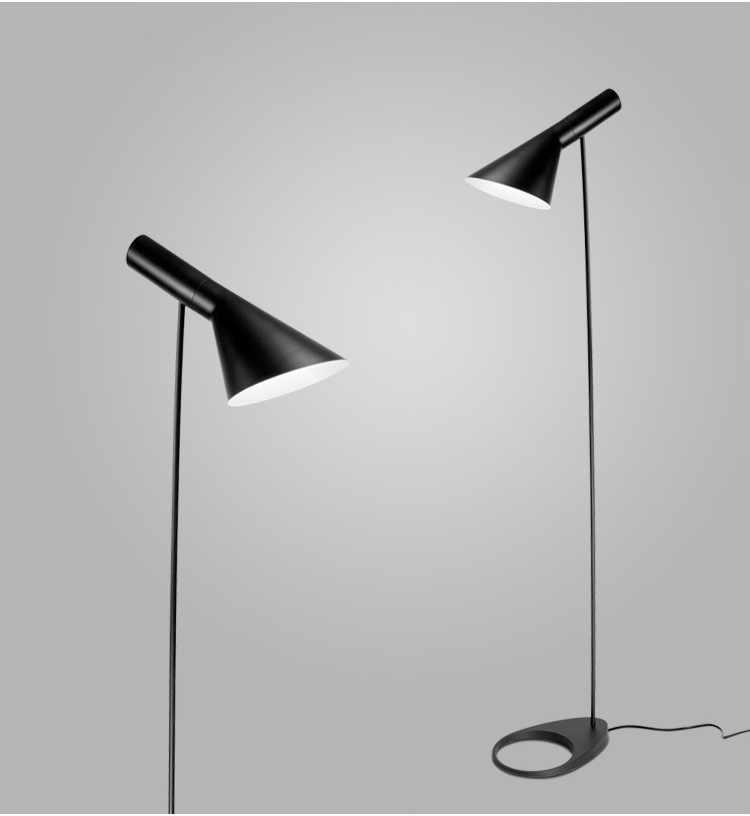 Пост-современный дизайн железный AJ торшер черный/белый металлический стенд свет для бара гостиной/спальни E27 светодиодный светильник