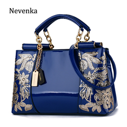Nevenka Luxury Evening Bags Women Leather Handbag Embroidery Shoulder Bags Female Purses and Handbags with Sequins Totes 2018