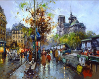The Latest Style Diy Oil Painting By Numbers Lively Streets Unique Gift Frameless Picture On Wall