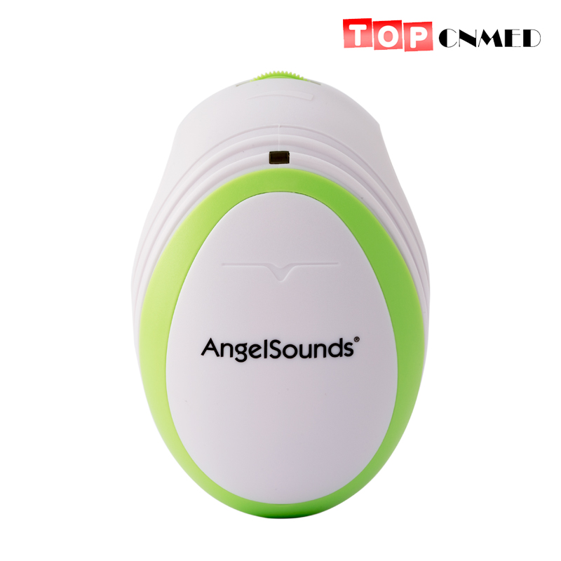 Pocket Mini Fetal Doppler Angelsounds Ultrasound Fetal Heart Monitor Baby Monitor Earphone and USB cable(China)