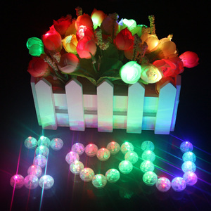 50 Pcs Lot White Round Led Balloon Lights Multicolor Mini RGB Flash Ball Lamps for Wedding Party Decoration 8 Colors Top Quality