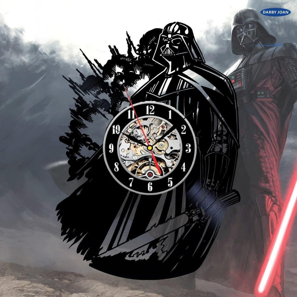 Darth Vader Vinyl Record Wall Clock Star Wars Fan Gift