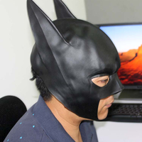 New Black Batman Mask Superhero Latex Mask For Adult Overhead Full Face Masquerade Party Toy Props Costume Cosplay Free Shipping