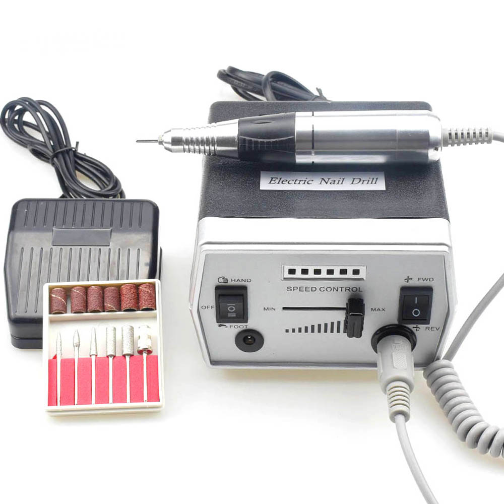 Electric Nail Drill Machine 35000RPM for Manicure Pedicure Drill Machine Nails Accessoires Nail Art Tool with Milling Cutter-in Electric Manicure Drills from Beauty & Health
