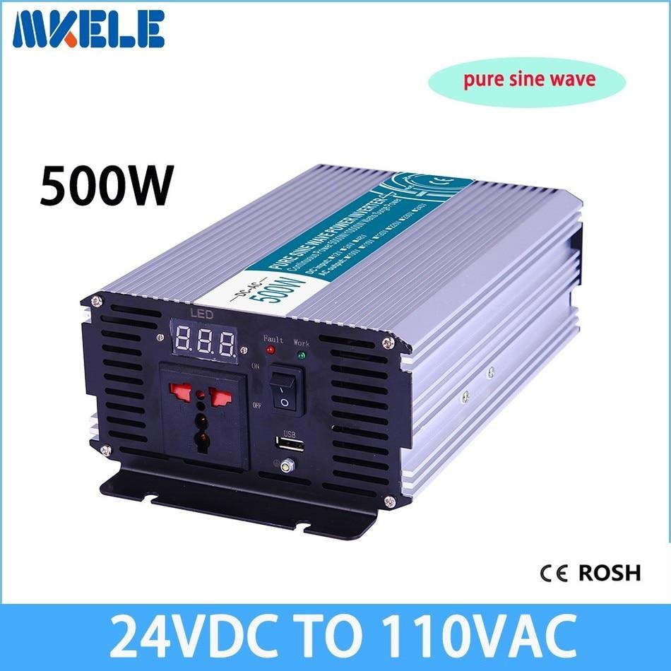 ФОТО MKP500-241 500W pure sine wave power inverter 24v to 110v voltage converter solar inverter,LED Display,Full power for home use