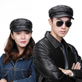 High Quality Winter Genuine Leather Hat Unisex Baseball Sports Cap For Adult Black Hats Free Shipping