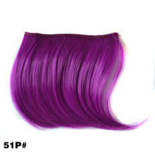 Top quality fashion hair jewelry 7g 10*14cm straight synthetic hair accessories extension colorful ombre hairwear for bangs