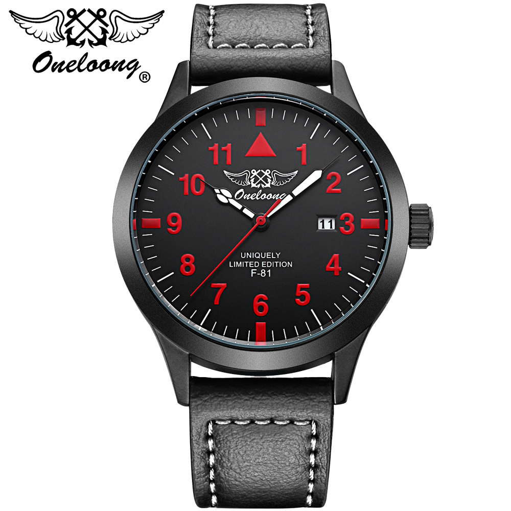 Mens Watches ONELOONG Top Brand Luxury Men's Quartz Watch Waterproof Sport Military Wrist watches Men Leather Relogio Masculino xinge top brand luxury leather strap military watches male sport clock business 2017 quartz men fashion wrist watches xg1080