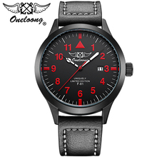 Mens Watches ONELOONG Top Brand Luxury Men's Quartz Watch Waterproof Sport Military Wrist watches Men Leather Relogio Masculino