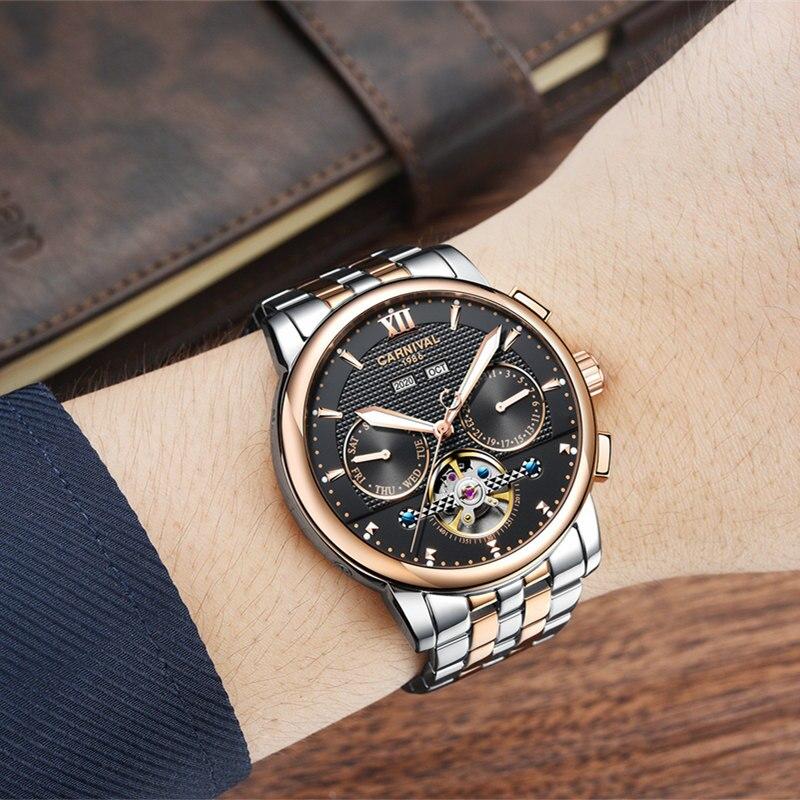 Montre homme Tourbillon sport homme automatique mécanique horloge Top marque luxe Reloj Hombres montres Date étanche hommes montre