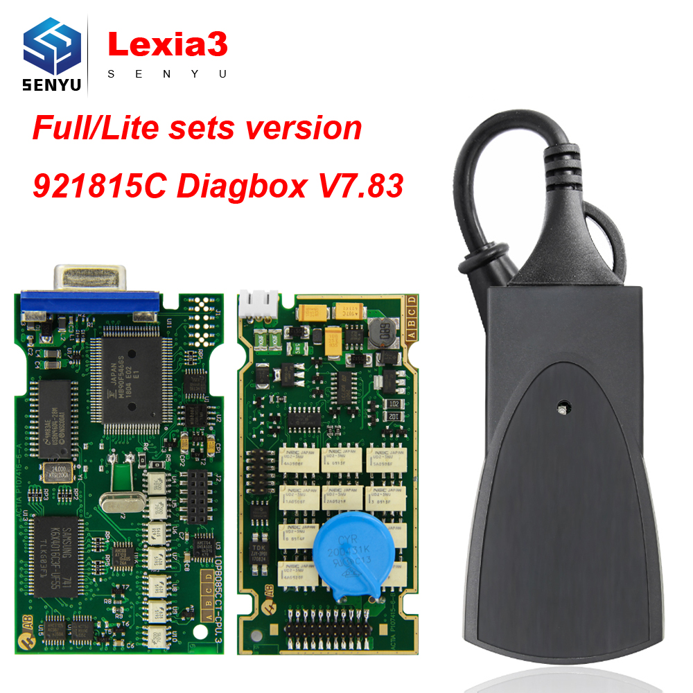 Lexia3 PP2000 Diagbox V7 83 921815C Full Chip for Citroen for Peugeot obd obd2 Diagnostic Tool