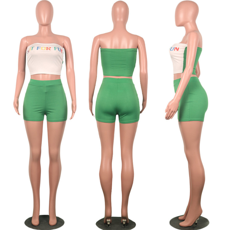 HTB10jnARgHqK1RjSZJnq6zNLpXak - Summer Two Piece Outfits for Women Letter Print Sexy Set Crop Top and Short Pants Club Matching Sets biker shorts Plue suze