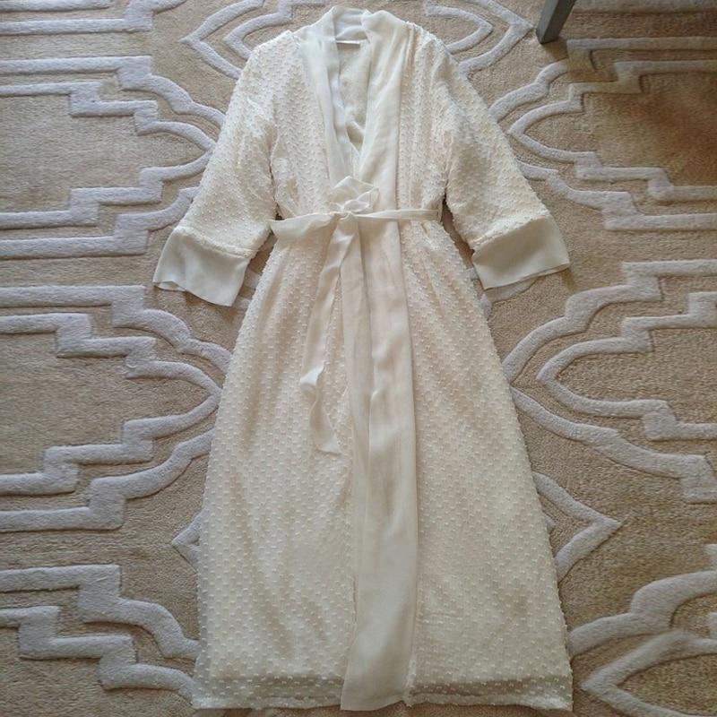 Longa Roupão de Luxo Elegantes Camisolas Longas Outono 2585