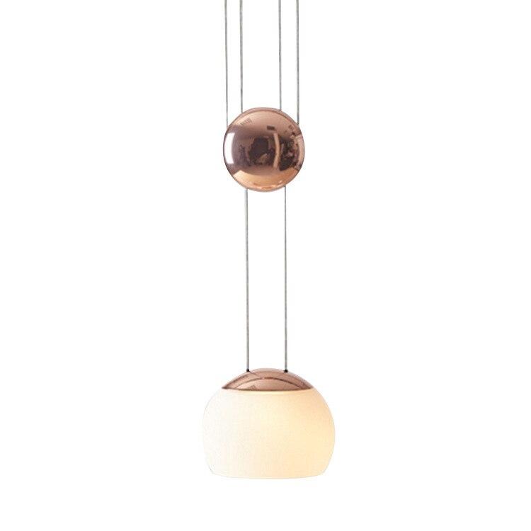 Подвесной светильник Nordic головы кровать лифт стеклянный шар на подвеске контракт дизайнер Ресторан отеля спальня свет