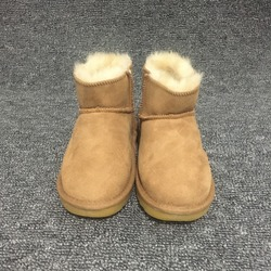 5f6692cae9138 Boys   Girls Australian Snow Boots 100% Natural Sheep Fur Wool Kids Boots  Winter Shoes