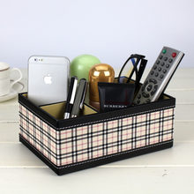 Качественный кожаный Настольный ящик для хранения пультов дистанционного