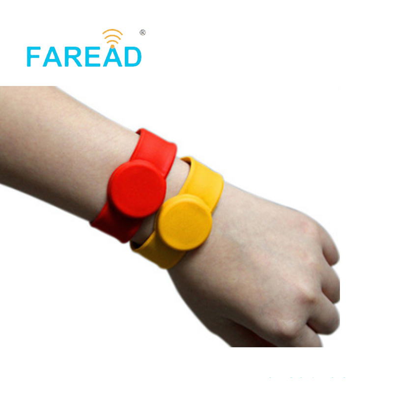 X100pcs Free Shipping RFID Wristband 125khz EM4100   For  Theme Park, Ticket System And Harsh Environment