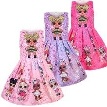 hot deal buy lol dolls baby dresses 2018 summer cute elegant dress kids party christmas costumes children clothes princess lol girls dress