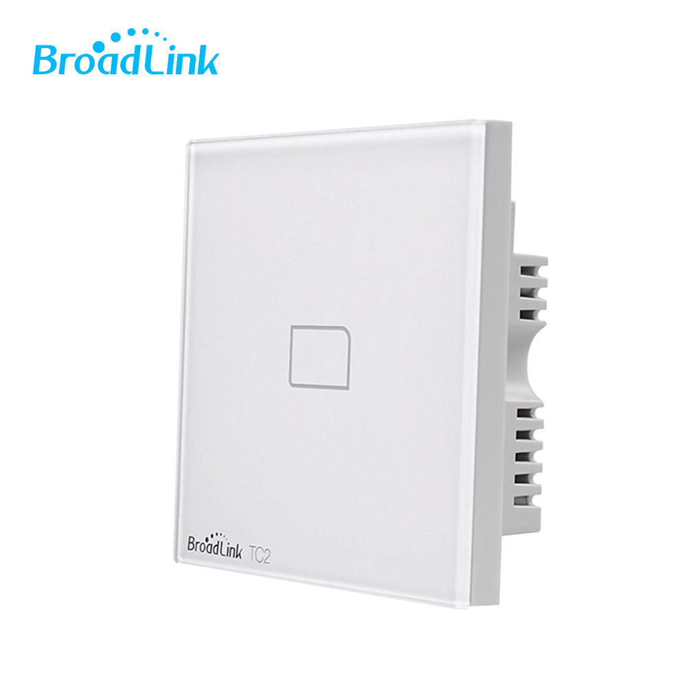 Broadlink TC2 1Gang 2Gang 3Gang UK Plug Touch Switch Electrical Equipment RF433 Wireless Wifi Control Light Wall Switch wireless service call bell system popular in restaurant ce passed 433 92mhz full equipment watch pager 1 watch 7 call button