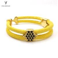 Yellow Bracelet Bijoux Hombre Stingray Bracelet For Men Luxury Stingray Charm Bracelets For Watch Friendship Gift Bracelets