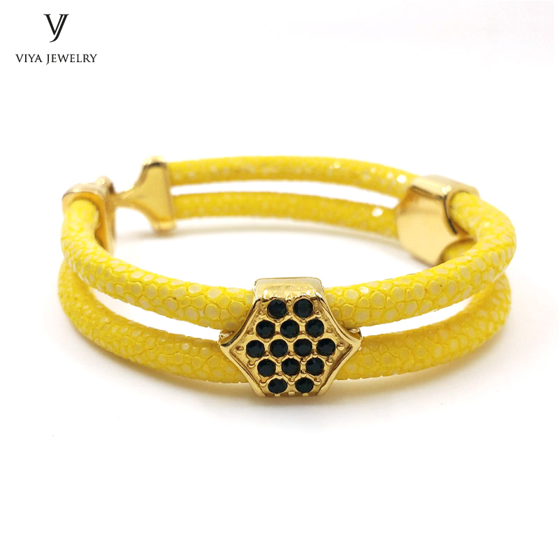 Yellow Bracelet Bijoux Hombre Stingray Bracelet For Men Luxury Stingray Charm Bracelets For Watch Friendship Gift Bracelets duoying 40 4 mm bar bracelets rope custom name bracelet personalize string bracelet friendship family bracelets jewelry for etsy