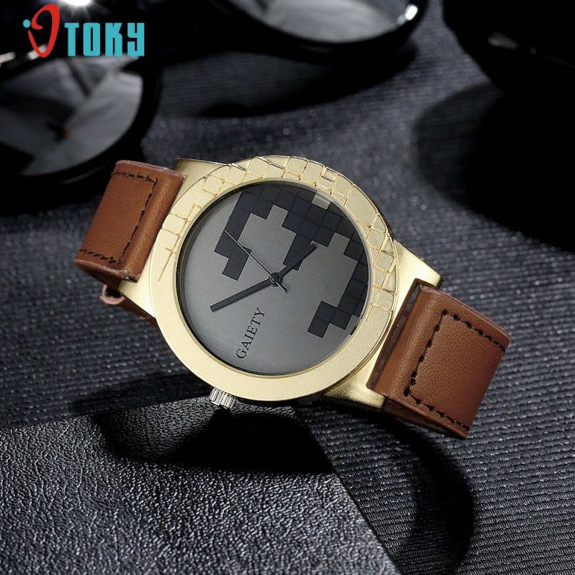 Excellent Quality 2017 Mens Watches Luxury Casual Quartz Sports Wristwatch Leather Male Clock Watch Relogio Masculino Jan-12
