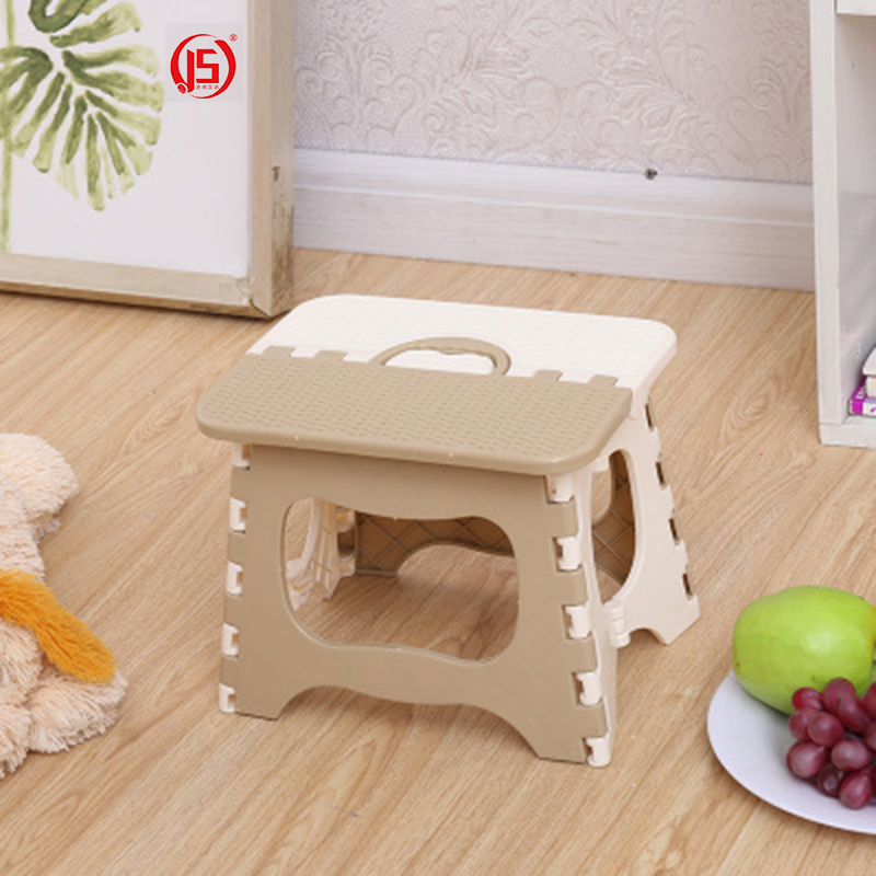 JS Beautiful Cute Portable Plastic Folding Stool Home Cartoon Ottomans Outdoors Fishing Study Dinner Children Stool Kid Chairs cartoon animal patern children stool kid seater portable fishing stool living room furniture children ottoman bathroom stool