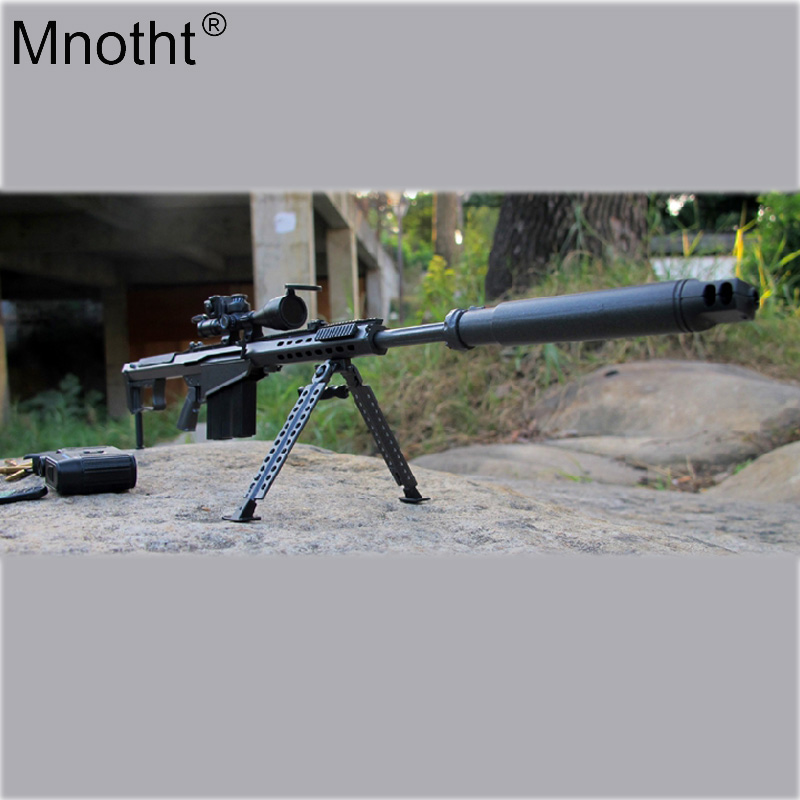 Mnotht Golden/Black 5 Styles 1/6 Scale Barrett M107 Sniper Rifle Gun Weapon Model Toy Fit 12Soldier Action Figure Accessories mnotht 1 6 action figure panzer third