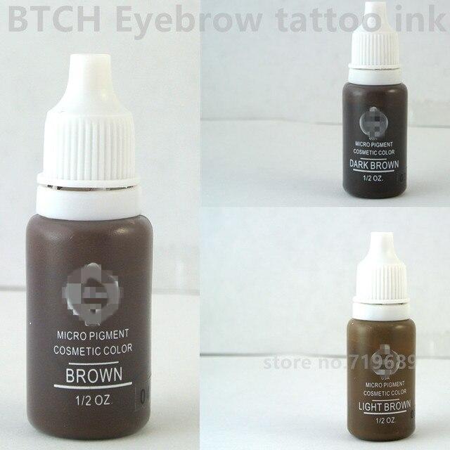 Najnowsze 3 kolory makijaż permanentny mikro pigmenty zestaw tatuaż Biotouch FK53