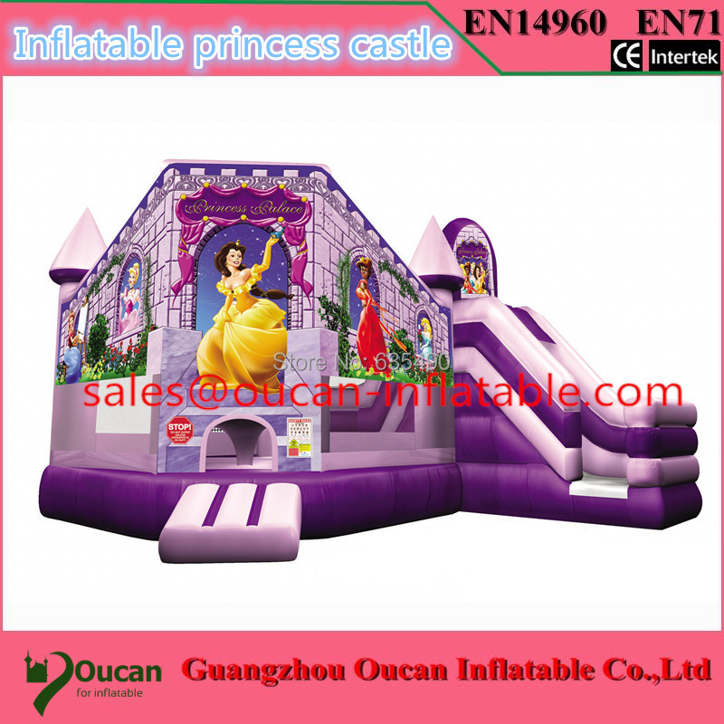 PVC7x5m tarpaulin inflatable font b bouncers b font with slide for kids and baby