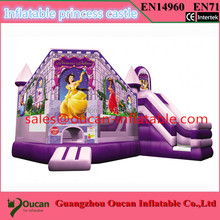 PVC7x5m tarpaulin inflatable bouncers with slide for kids and baby