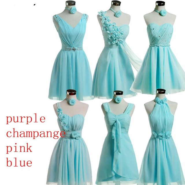 Cheap Bridesmaid Dresses Under 30 | Bridesmaid Dress Short Design Chiffon Country Style Bridesmaid
