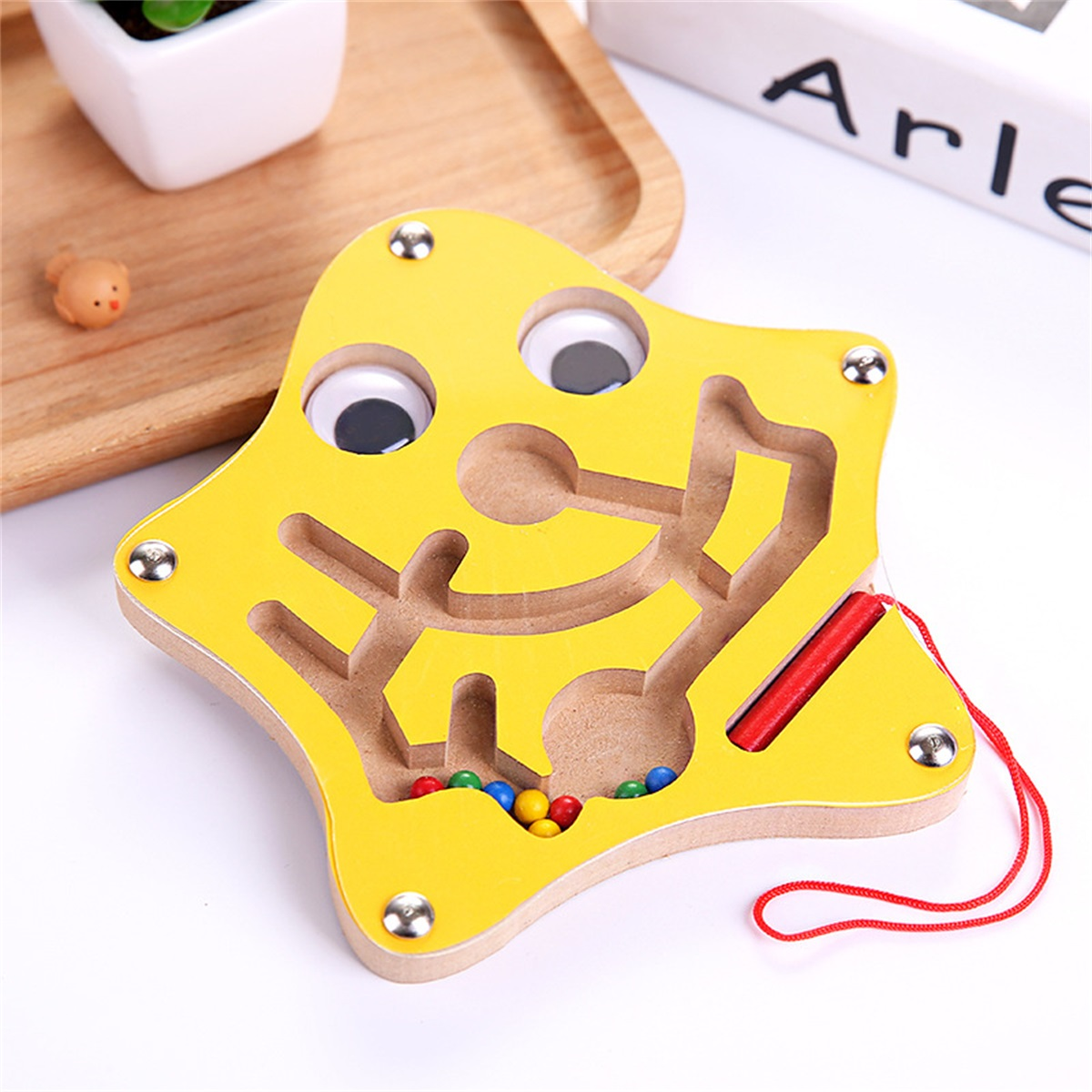 Kids Wooden Magnetic Maze Puzzles Intellectual Jigsaw Board Toys Development IQ Maze Children Magic Cubes Children Puzzle Child