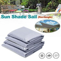 Rectangle Waterproof Sun Shade Awning Cover Cap UV resistant Furniture Rectangle Dust Cover Outdoor Garden