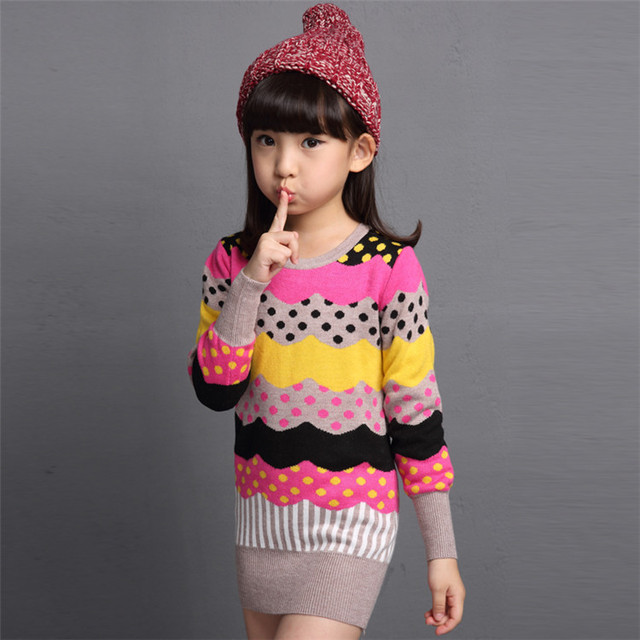 Sweater sweater knit cardigan sweater children clothing girls Autumn