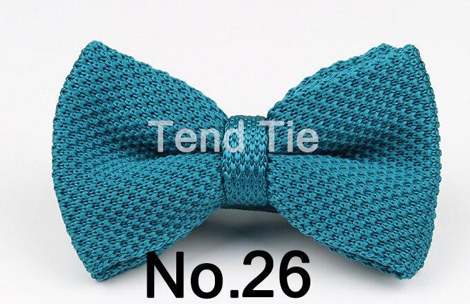 Мужские галстуки для шеи, смокинг, вязаная бабочка, Одноцветный галстук-бабочка, толстый двухслойный предварительно завязанный Регулируемый вязаный Повседневный галстук